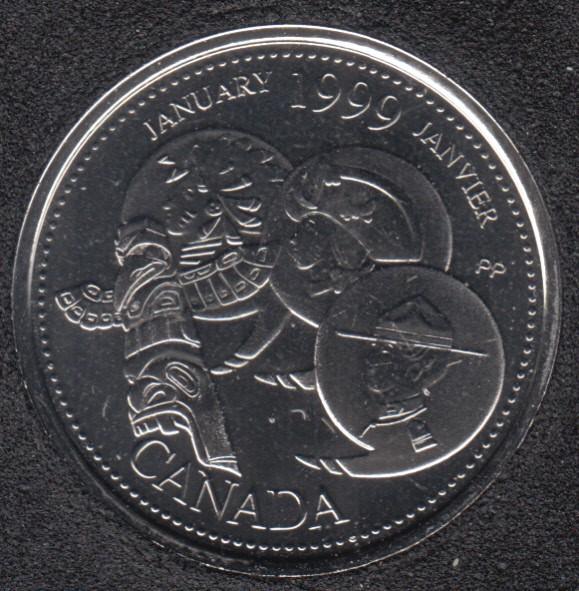 1999 - #1 NBU - Janvier - Canada 25 Cents