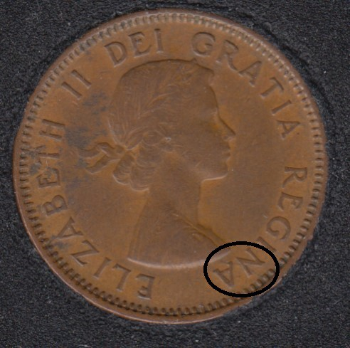 1954 - Hanging 4 - Break Bust to NA to Rim - Canada Cent