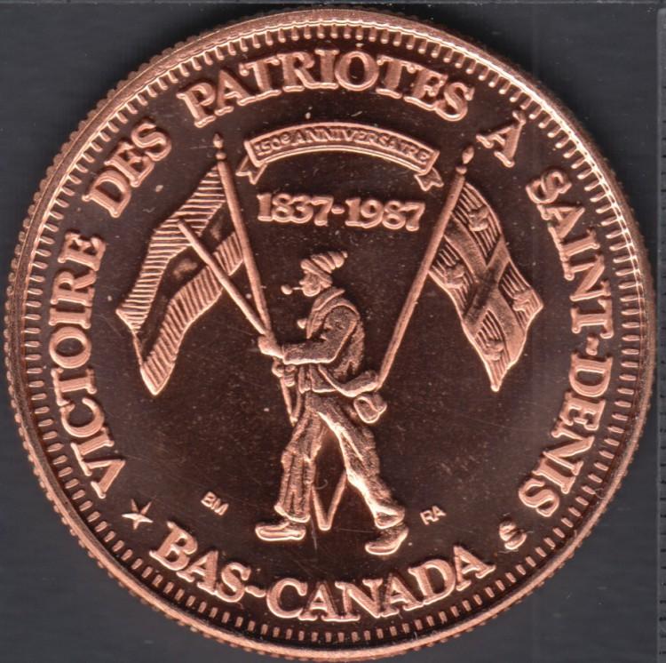 Quebec - Epicerie J.A. Moisan - 1987 - 1837 - Victoire des Patriotes à St-Denis - Valeur 1 Écu au Magasin