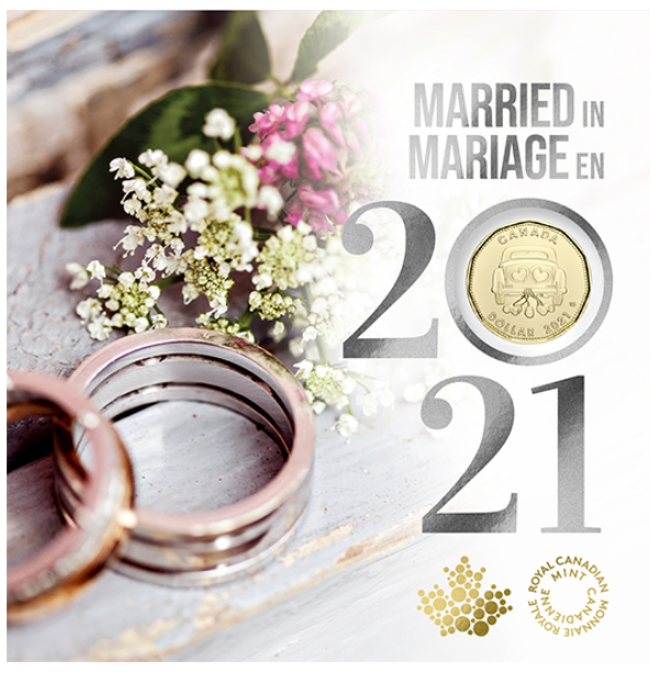 2021 - Wedding 5-Coin Gift Card Set