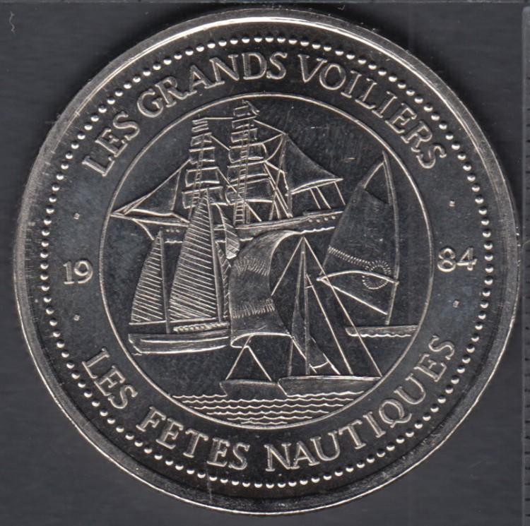 Quebec - Marchands de la La Grande Allée - 1984 - Les Grands Voiliers - $1 Trade Dollar