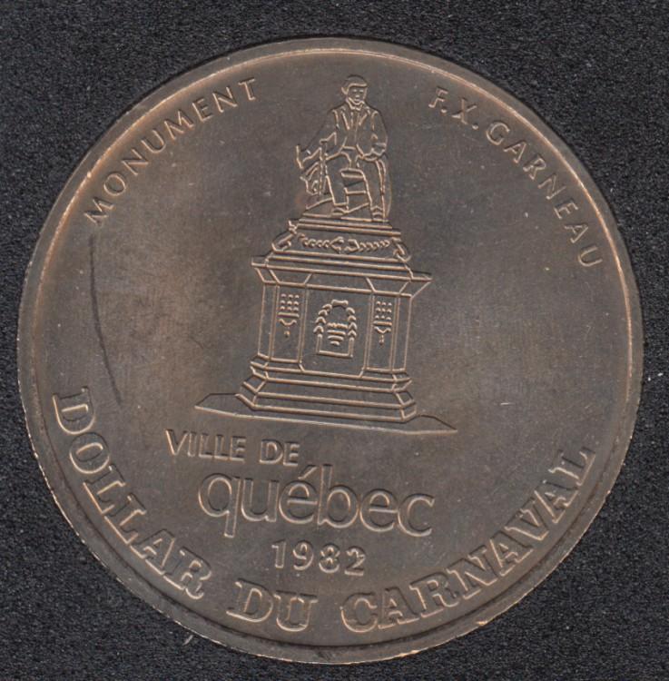 Quebec - 1982 Carnaval de Québec - Eff. 1970 / Monument F.X. Garneau - Dollar de Commerce