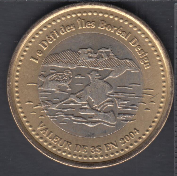 Trois-Pistoles / Les Basques - 2004 - Le Défi des Iles Boréales - (bimétal.) $3 Trade Dollar