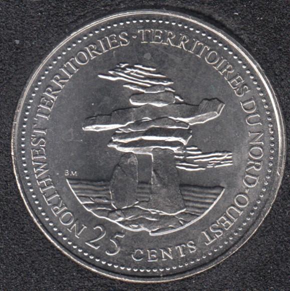 1992 - #2 B.Unc - Northwest Territories - Canada 25 Cents