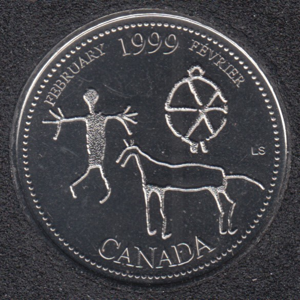 1999 - #2 NBU - February - Canada 25 Cents
