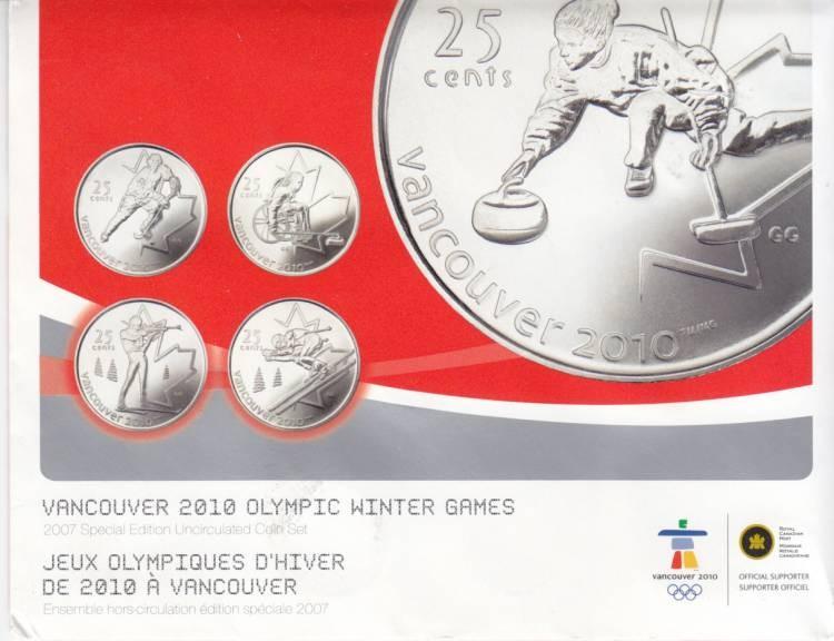 RCM Ice Hockey 2007-25-cents Uncirculated