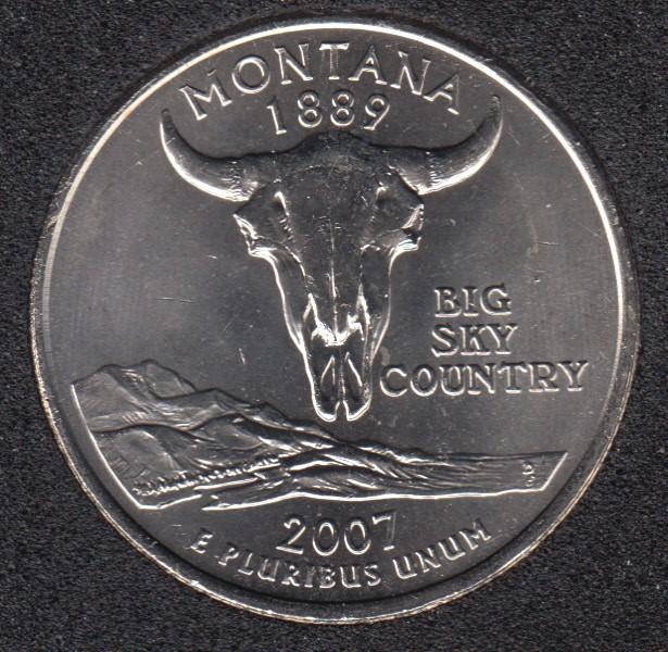 2007 P - Montana - 25 Cents
