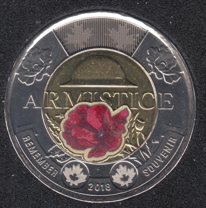2018 - B.Unc - Armistice Col. - Canada 2 Dollars