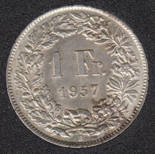 1957 B - 1 Franc - AU - Switzerland