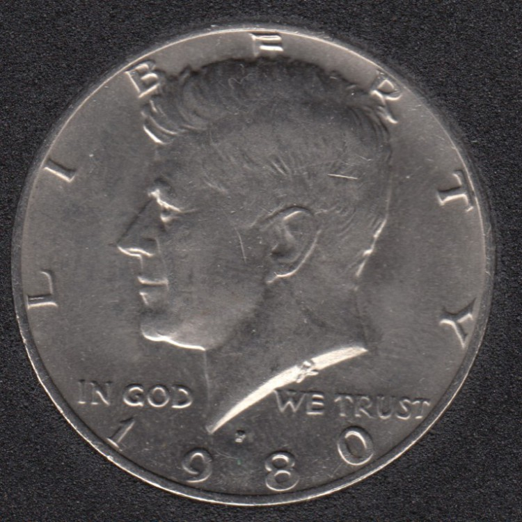 1980 P - Kennedy - 50 Cents