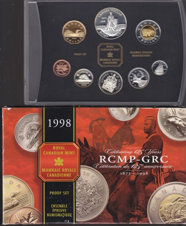 1998 CANADA DOUBLE DOLLAR PROOF SET