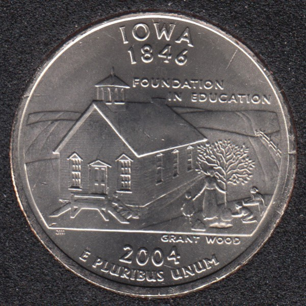 2004 P - B.Unc - Iowa - 25 Cents