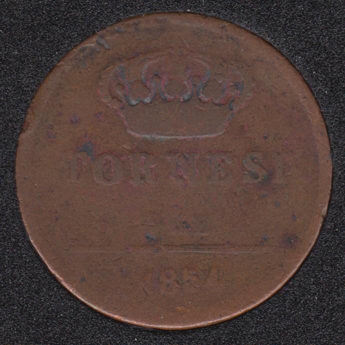 1854 - Naples - 3 Tornesi - Italia