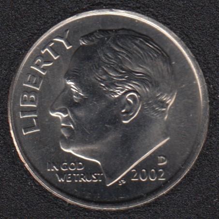 2002 D - Roosevelt - B.Unc - 10 Cents
