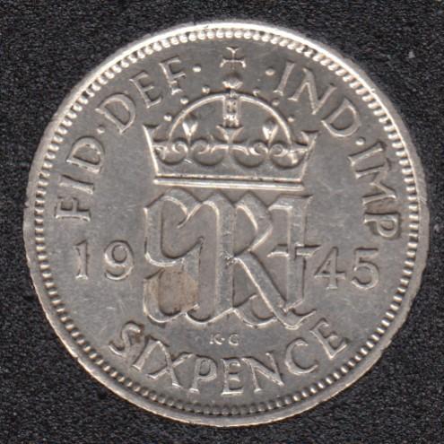 1945 - 6 Pence - Grande Bretagne