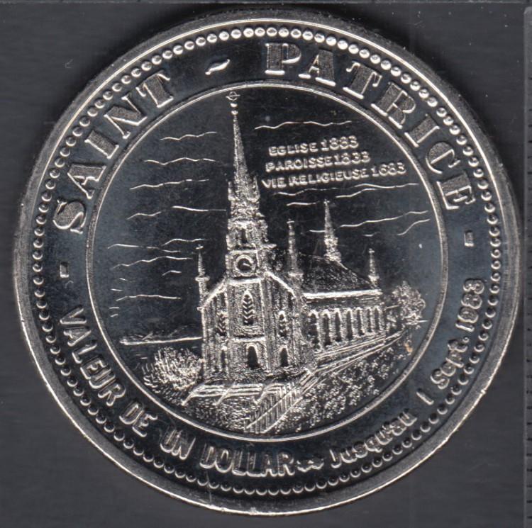 Rivière-du-Loup - 1983 - Église 1883 - Paroisse 1833 - Vie Religieuse 1683 - $1 Trade Dollar