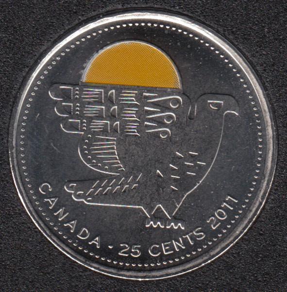2011 - B.Unc - Falcon Col. - Canada 25 Cents