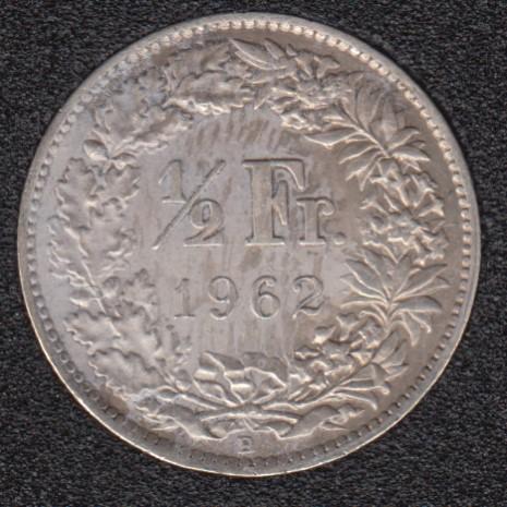 1962 B - 1/2 Franc - Switzerland
