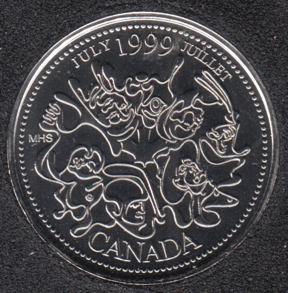 1999 - #7 NBU - July - Canada 25 Cents