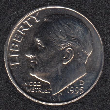 1995 D - Roosevelt - B.Unc - 10 Cents