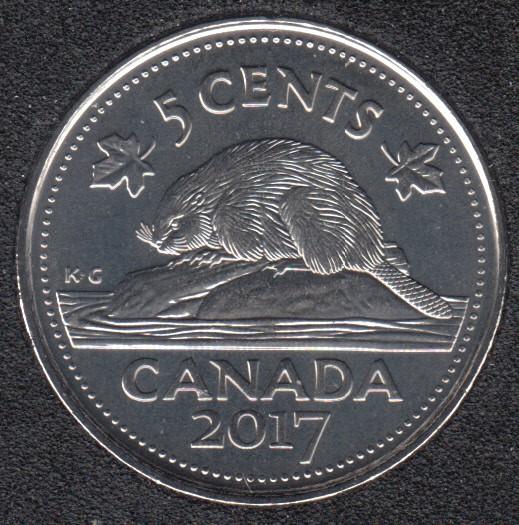 2017 - B.Unc - Castor - Canada 5 Cents