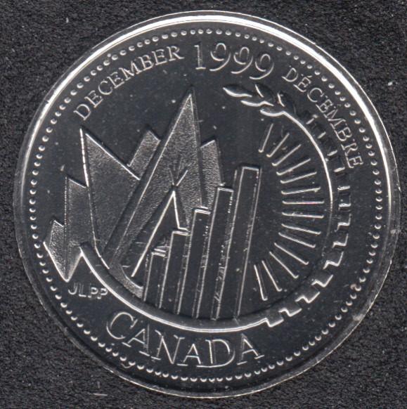 1999 - #912 B.Unc - December - Canada 25 Cents