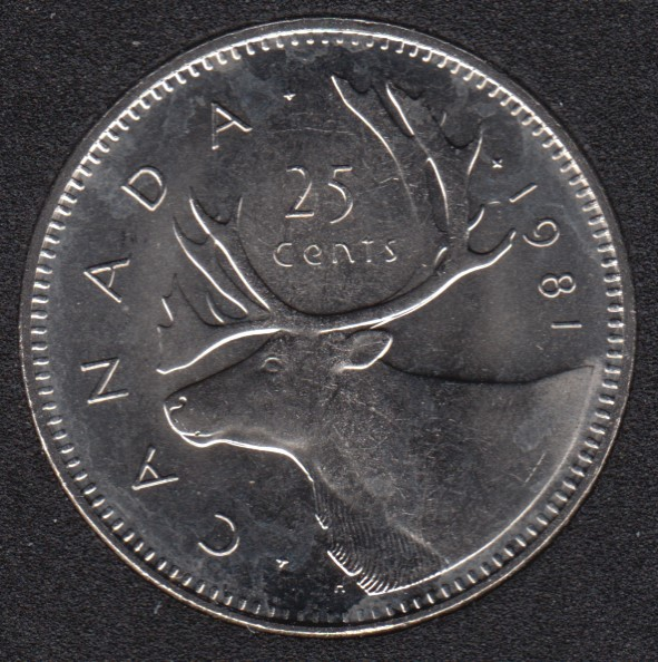 1981 - B.Unc - Canada 25 Cents
