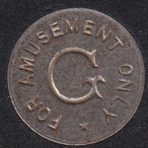 Arcade - G - For Amusement Only - Gaming Token