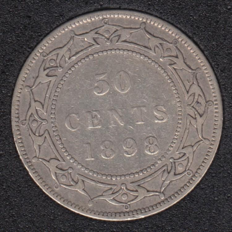 Newfoundland - 1898 - OBV '1' - LW - 50 Cents