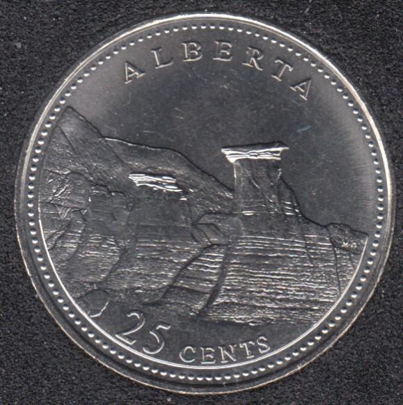 1992 - #6 B.Unc - Alberta - Canada 25 Cents