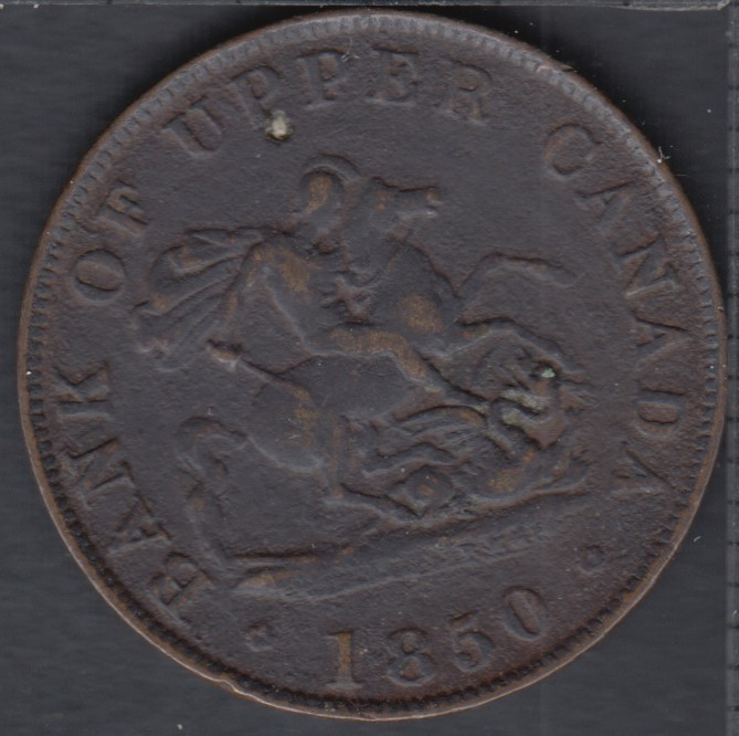 P.C. 1850 Bank of Upper Canada Half Penny - VF - PC-5A