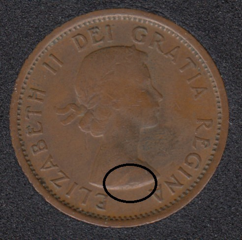 1955 - PLanchet Flaw - Canada Cent