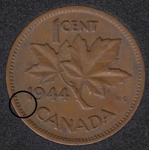 1944 - Break 1 to Rim - Canada Cent