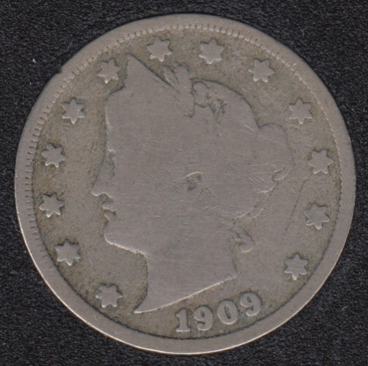 1909 - Liberty Head - 5 Cents
