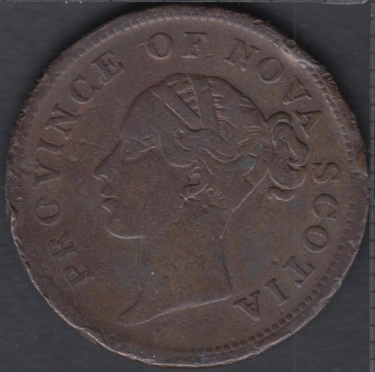 N.S. 1840 Penny Token - NS-2C1