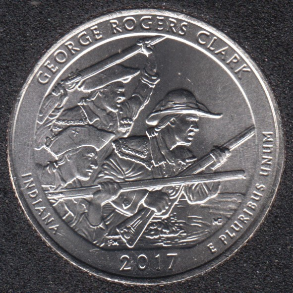 2017 D - George Rogers Clark - 25 Cents