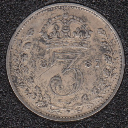 1887 - 3 Pence - Grande Bretagne