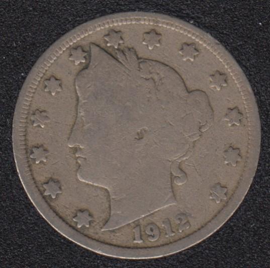 1912 - Liberty Head - 5 Cents