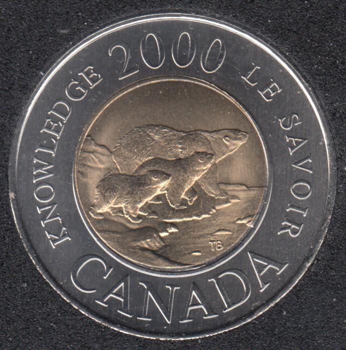 2000 - B.Unc - Le Savoir - Canada 2 Dollars