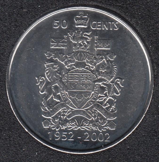 2002 - 1952 P - B.Unc - Canada 50 Cents