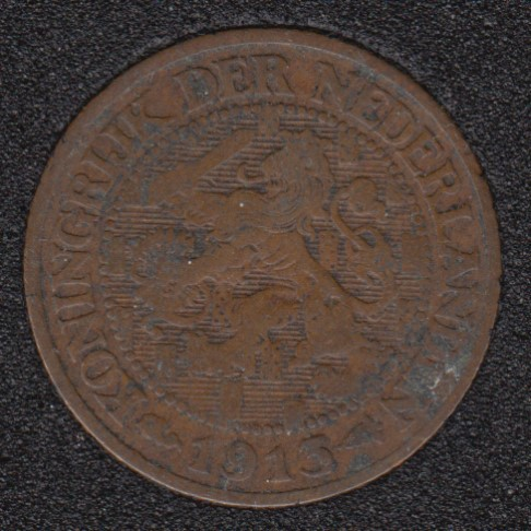 1913 - 1 Cent - Pays-Bas