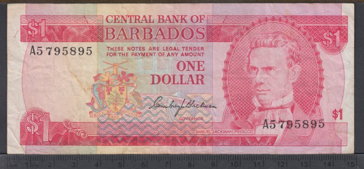 1973  - 1 Dollar - Barbados