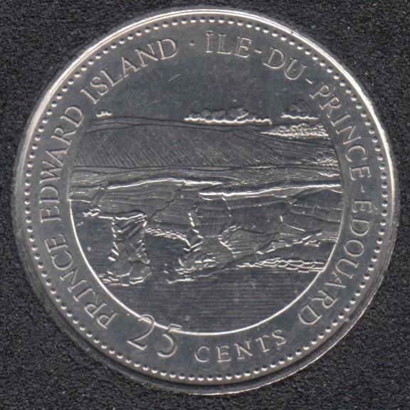 1992 - #7 B.Unc - Prince Edward Island - Canada 25 Cents