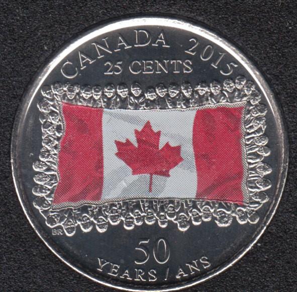 2015 - B.Unc - Drapeau Col. - Canada 25 Cents