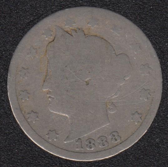 1888 - Liberty Head - 5 Cents