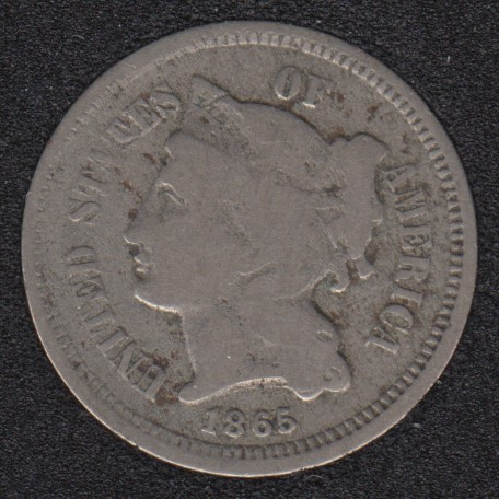 1865 - Nickel 3  Cents