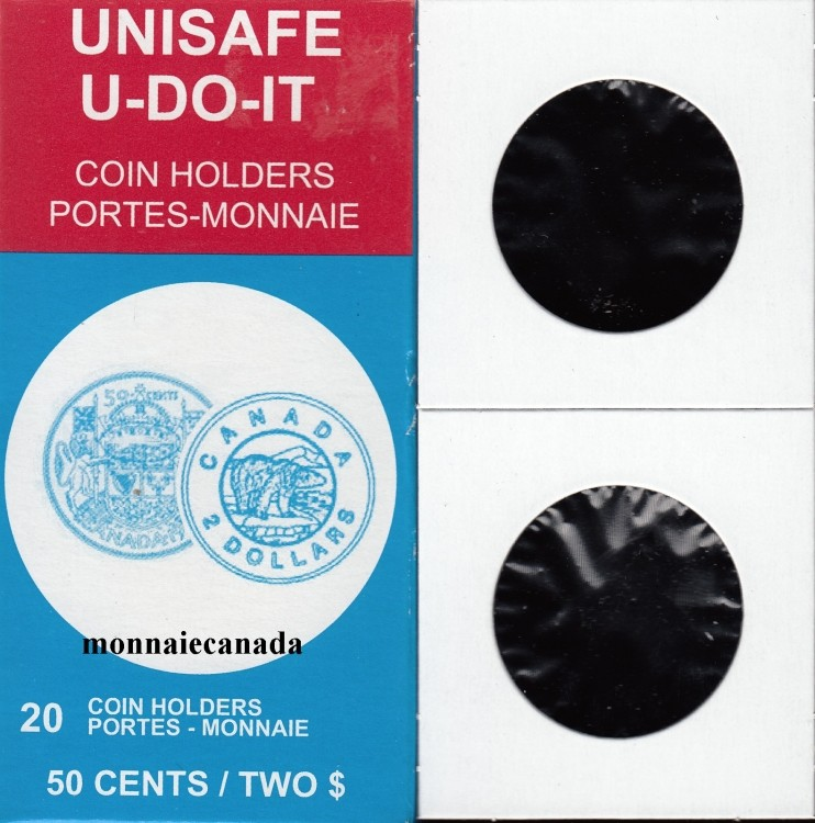 PACK OF 20 CARDBOARD FLIPS 2X2 COINS for 50 cents / Two Dollars****