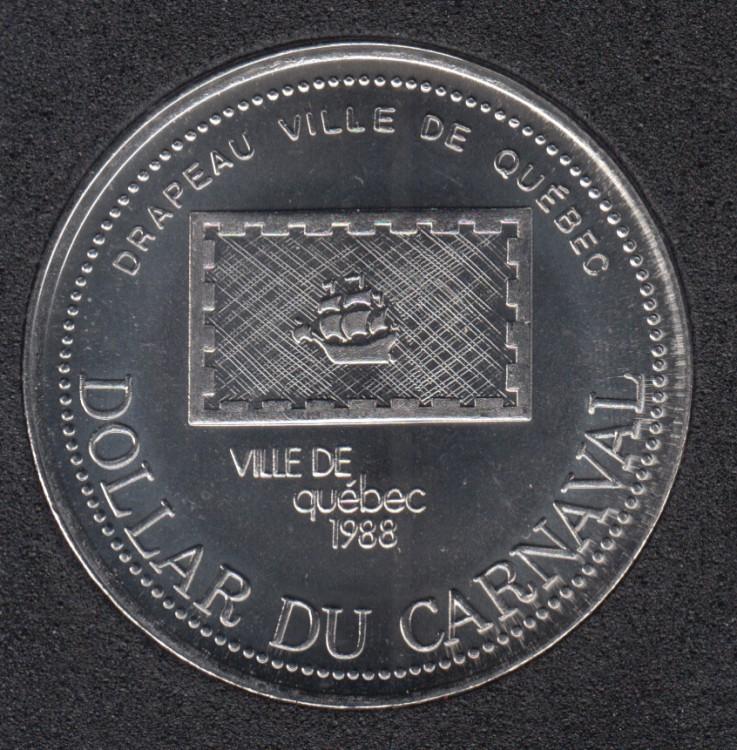 Quebec - 1988 Carnival of Quebec - Pal. 1958 / Drapeau de Quebec - Trade Dollar