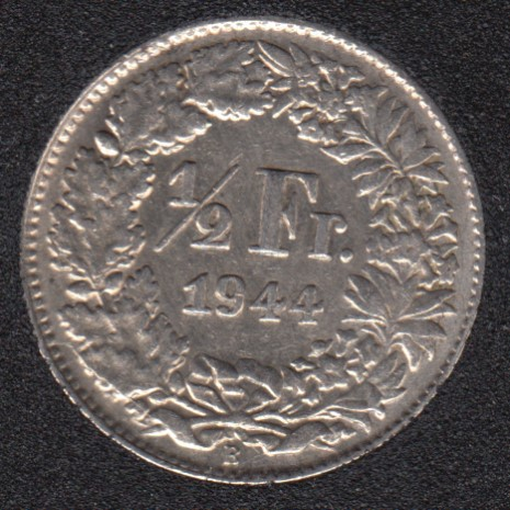 1944 B - 1/2 Franc - EF - Switzerland