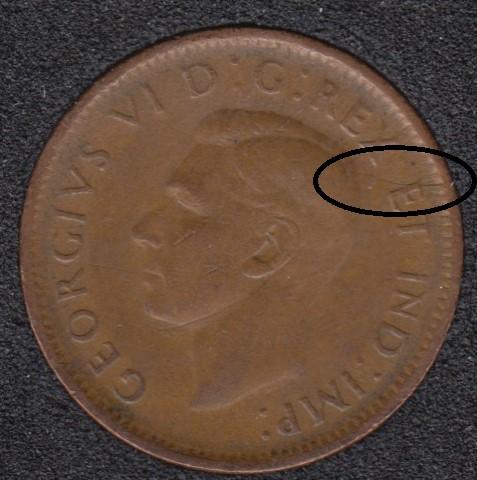 1942 - Break Head to E to Rim - Canada Cent